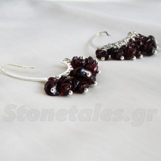 Gypsy Style Jewels, Red Garnet Earrings